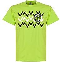 RE-TAKE(リテイク) ナイジェリア代表 2018 Pattern Tシャツ(アップルグリーン)