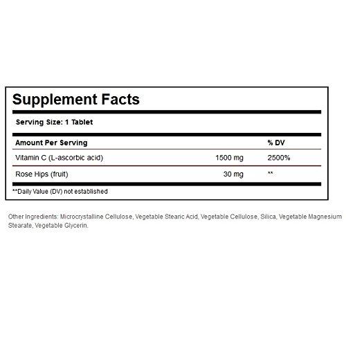 【海外直送品】SOLGAR - Vitamin C1500 mg with Rose Hips 90錠 ソルガー ビタミンC ローズヒップ入り