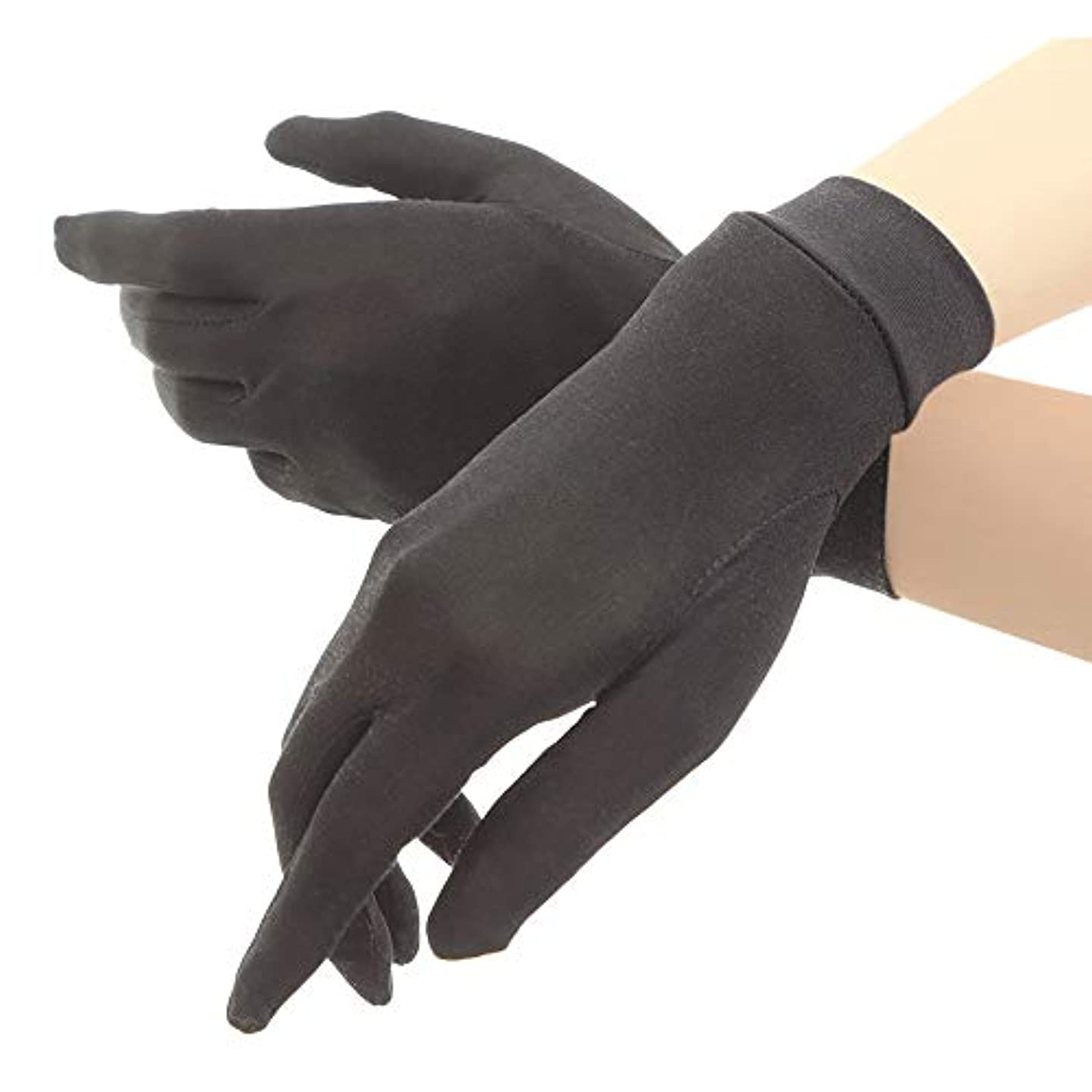 シルク手袋 レディース 手袋 シルク 絹 ハンド ケア 保湿 紫外線 肌荒れ 乾燥 サイズアップで手指にマッチ 【macch】