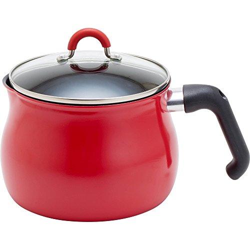 和平フレイズ 片手鍋 マルチポット L 16cm 3L (3~4人用) 3合炊き IH対応 ご飯鍋 ふっ素樹脂加工 トゥーメイ(To May) レッド SRA-9474