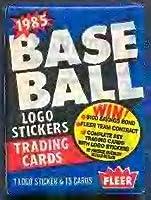 Lot of 31985Fleer野球ワックスパック合計45カードpossible Roger Clemensルーキーカード