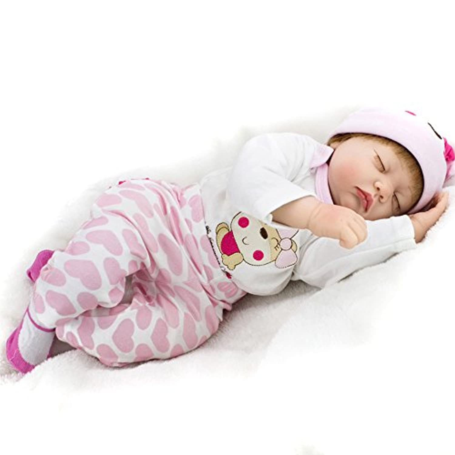 Look Real Rebornガールズベビーシリコン人形Lifelike Sleeping Toys for Girls Boysキッズ