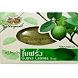 Guava Leaves Herbal Soap Anti-bacterial and Vitamin E Antioxidant Net Wt 100 G (3.53 Oz.) ( 1 Pack : 4 Pcs ) Abhaibhubejhr Brand