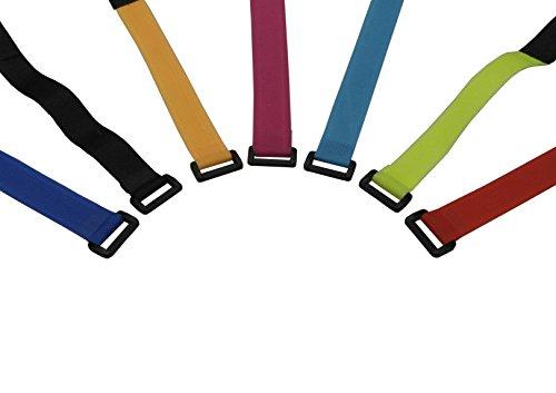 パラ ナイロン製 ケーブルタイ マジックタイ マジックバンド 束線バンド 収納バンド 収納テープ ケーブル 7色 7本入り