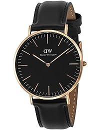 [ダニエル ウェリントン]Daniel Wellington 腕時計 40MM クラシック シェフィールド ブラック文字盤 DW00100127 メンズ 腕時計 レザーベルト【並行輸入品】