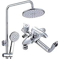 バスルームシャワーシステム - シャワーとハンドヘルドフルレインシャワーセット、フル銅バスルームスプリンクラーセット、壁掛けレインフォールシャワーヘッド、電気メッキ