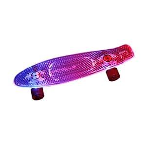 DOPPELGANGER OUTDOOR(ドッペルギャンガーアウトドア) アウトドアスケートボード  LEDデッキ/LEDダイナモウィール [ABEC7カーボンベアリング採用] SB1-163
