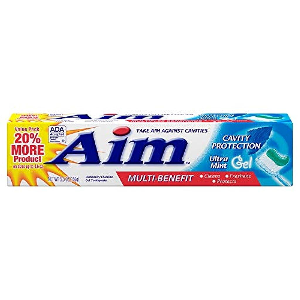 ジャグリング端アルコーブAIM 空洞保護歯磨きウルトラミントジェル、5.5オンス、4パック 4パック