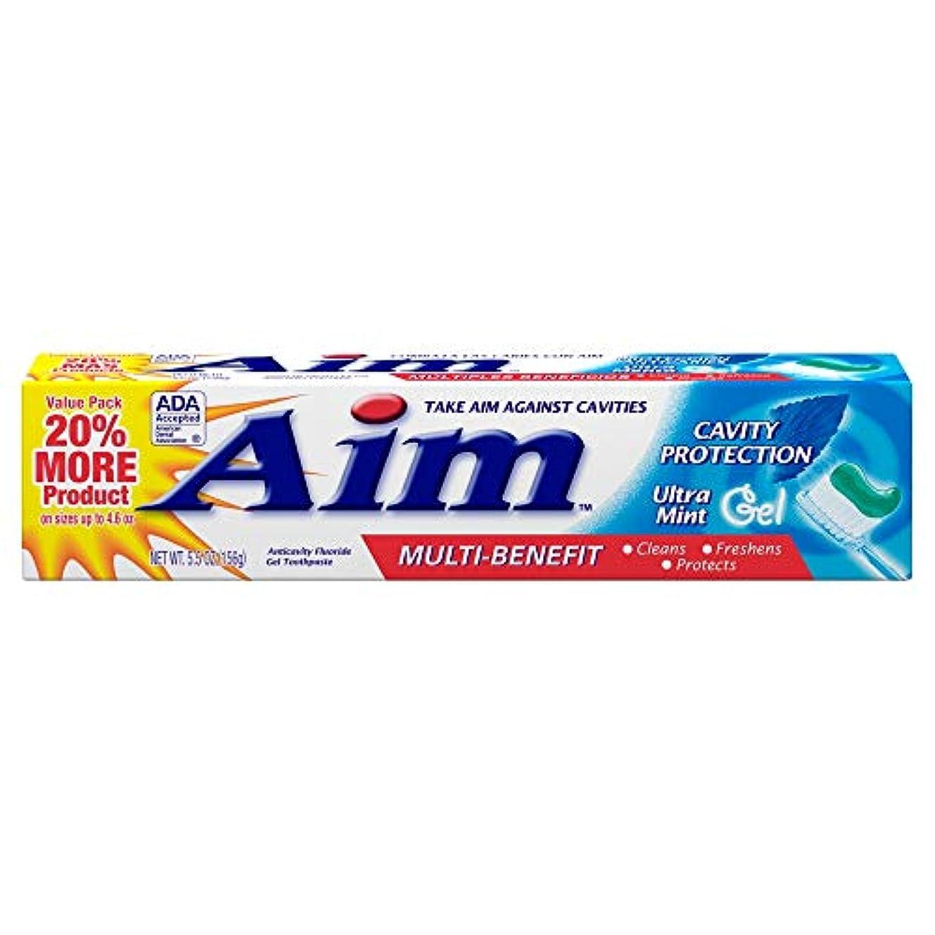 アルファベット順メダル日記AIM 空洞保護歯磨きウルトラミントジェル、5.5オンス、4パック 4パック