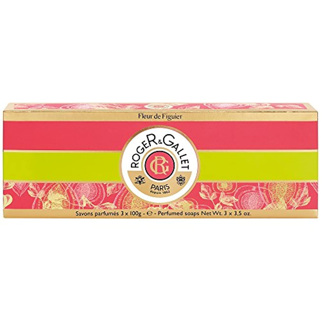 幻滅上昇トロイの木馬ロジャー&Galletのフルール?ド?フィギエソープコフレ3×100グラム (Roger & Gallet) - Roger & Gallet Fleur de Figuier Soap Coffret 3 x 100g...
