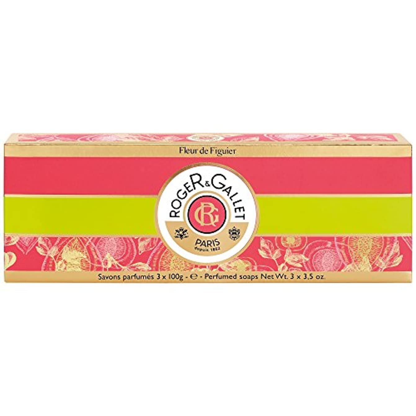 ミケランジェロ理解する昼間ロジャー&Galletのフルール?ド?フィギエソープコフレ3×100グラム (Roger & Gallet) (x2) - Roger & Gallet Fleur de Figuier Soap Coffret 3 x...