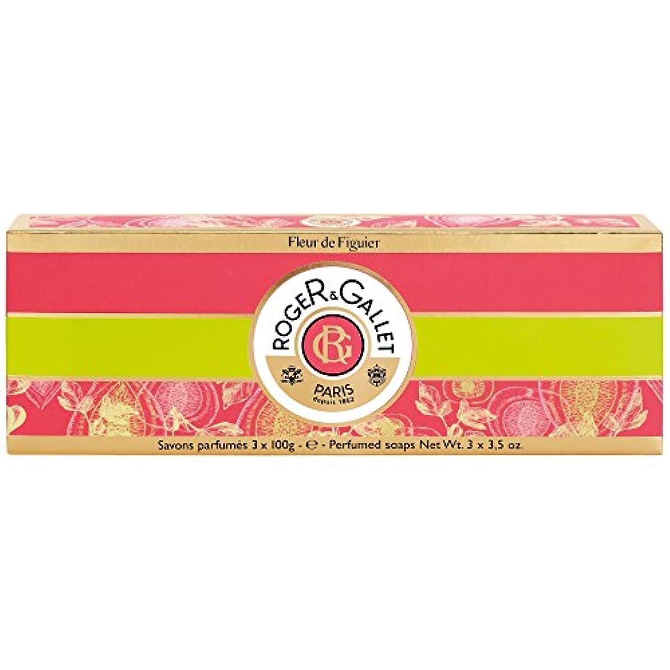 心臓プール申し立てられたロジャー&Galletのフルール?ド?フィギエソープコフレ3×100グラム (Roger & Gallet) - Roger & Gallet Fleur de Figuier Soap Coffret 3 x 100g...