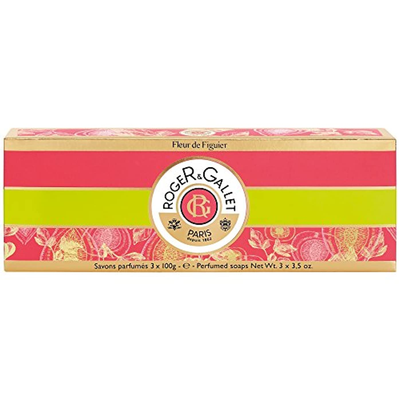 昼寝エキスチームロジャー&Galletのフルール?ド?フィギエソープコフレ3×100グラム (Roger & Gallet) - Roger & Gallet Fleur de Figuier Soap Coffret 3 x 100g...