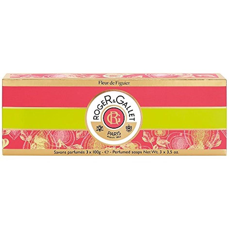 インストラクター一月宅配便ロジャー&Galletのフルール?ド?フィギエソープコフレ3×100グラム (Roger & Gallet) (x2) - Roger & Gallet Fleur de Figuier Soap Coffret 3 x...