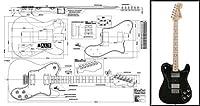 Fender Telecaster Deluxeエレキギターピアノ - スケール印刷