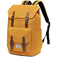 Backpack for Men,Vaschy Vintage School Bag Casual Lightweight Camping Rucksack Bookbag with15.6in Laptop Sleeve