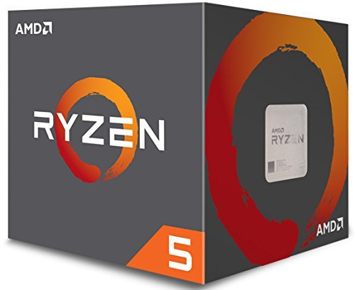 AMD CPU Ryzen5 1600 with Wraith Spire 65W cooler AM4 YD1600BBAEBOX