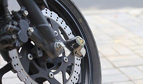 9mmピンのオートバイロックスポーツバイクレーシング安全・スクーターアンチ泥棒バイクオートバイディスクブレーキロックスポーツバイクレースバイクシルバーフィットホンダcbf10002006200720082009