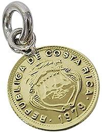 本物のコスタリカのコインペンダント(1) メンズ レディース ネックレス 硬貨 南米