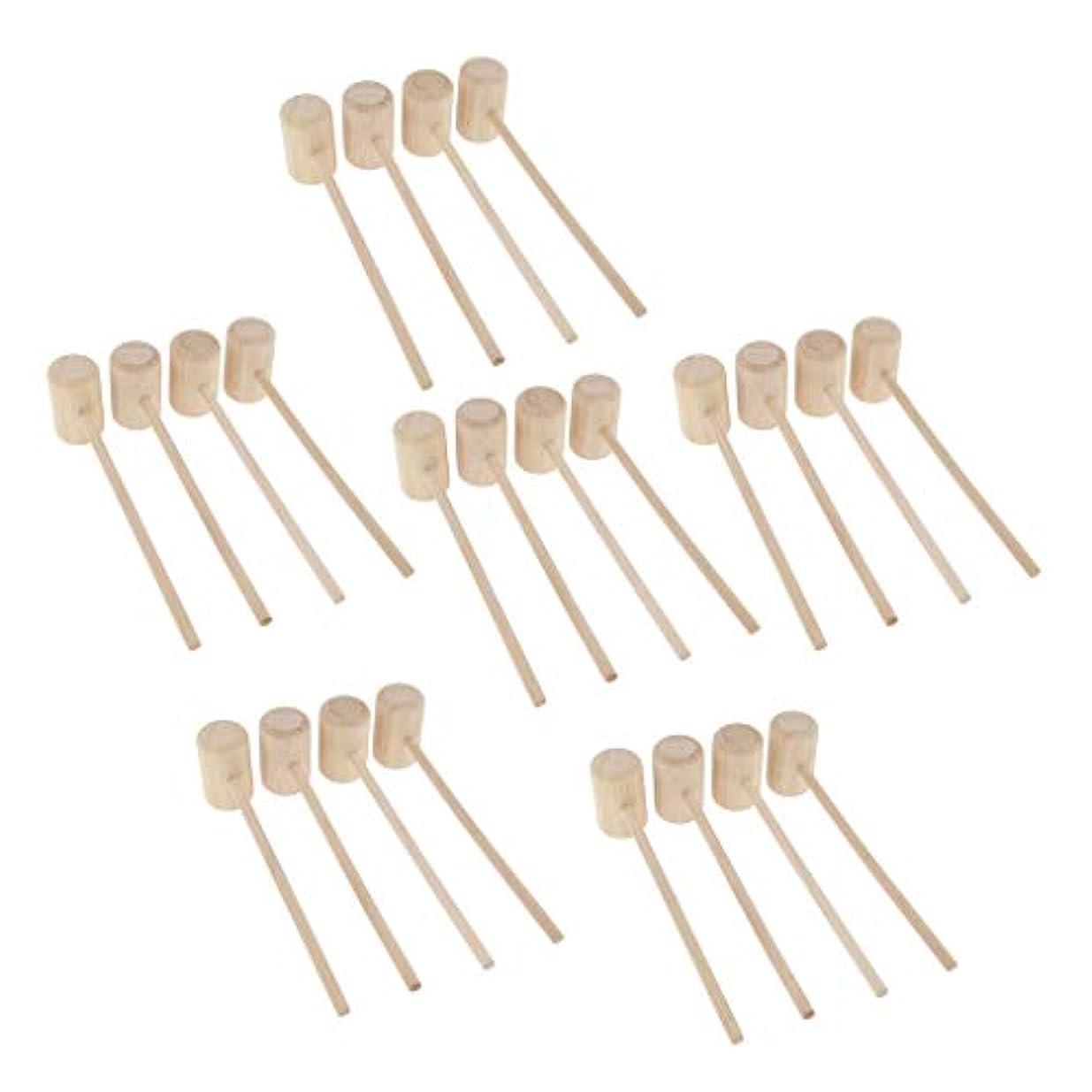 ビヨン妖精鼻木製ハンマー マッサージハンマー DIY 手作り 軽量設計 ストレス解消 疲労緩和 24ピース