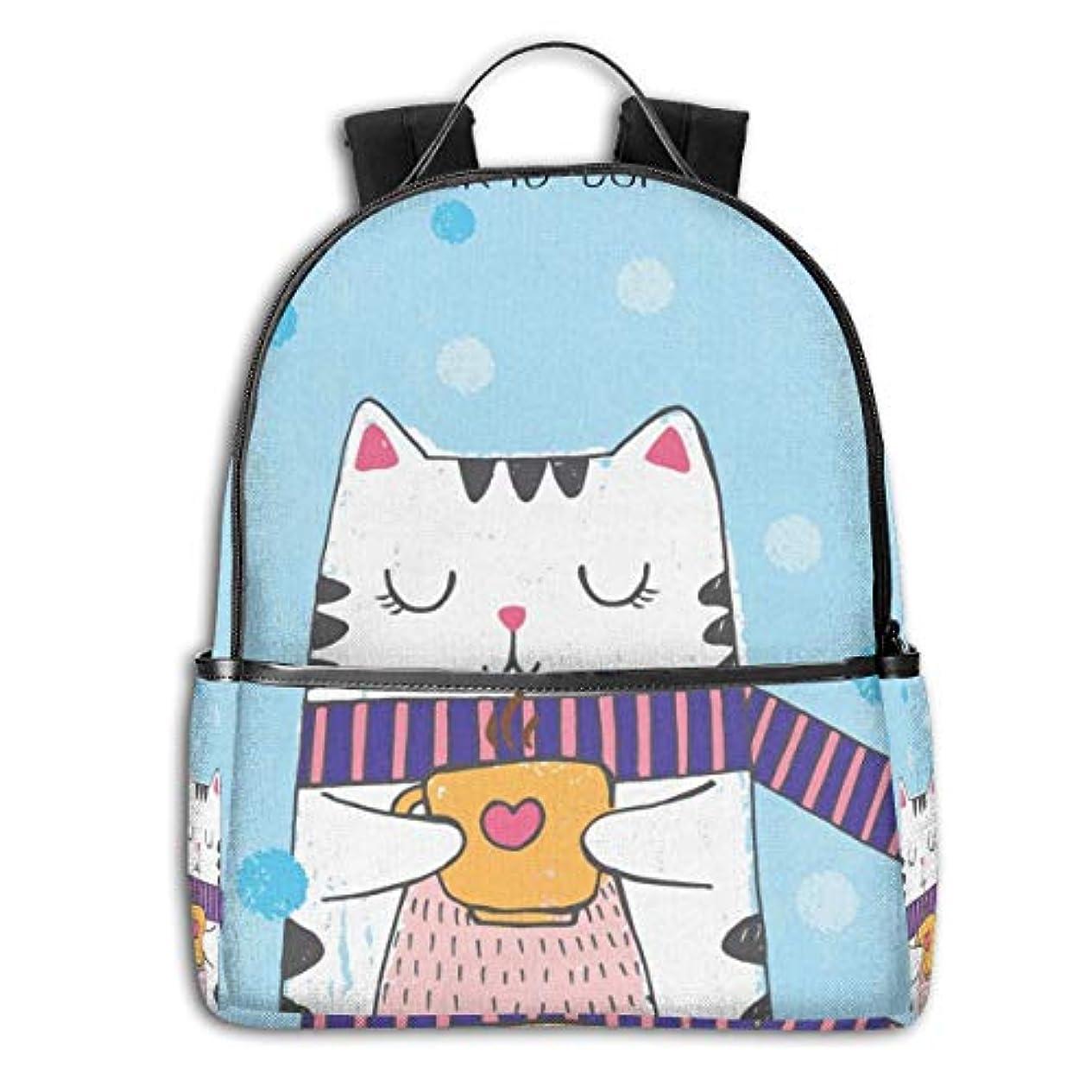 迷惑類似性クラッチZetena リ ュックリュックサック 猫 ネコ キティ ニャー バックパック デイパック おしゃれ 旅行 通学 通勤 15.6インチラップトップ収納可能 アウトドア 遠足 出張 男女兼用