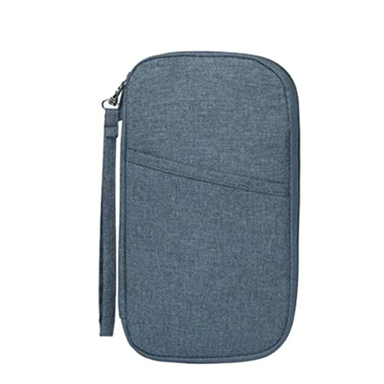 ジレンマお金ゴム進捗DishyKooker 多機能トラベルカードバッグ オーガナイザー パスポートウォレットパッケージハンドバッグ