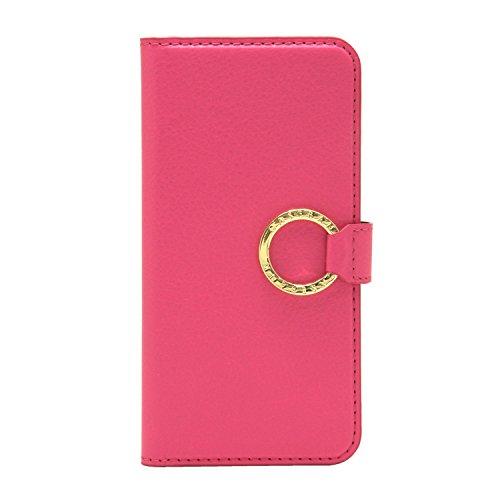 [CASEBANK] リング付き 手帳 ケース iPhone6/6s 4.7インチ 落下防止 実用新案取得済 スマホ カバー (ピンク) RING-01-Pink