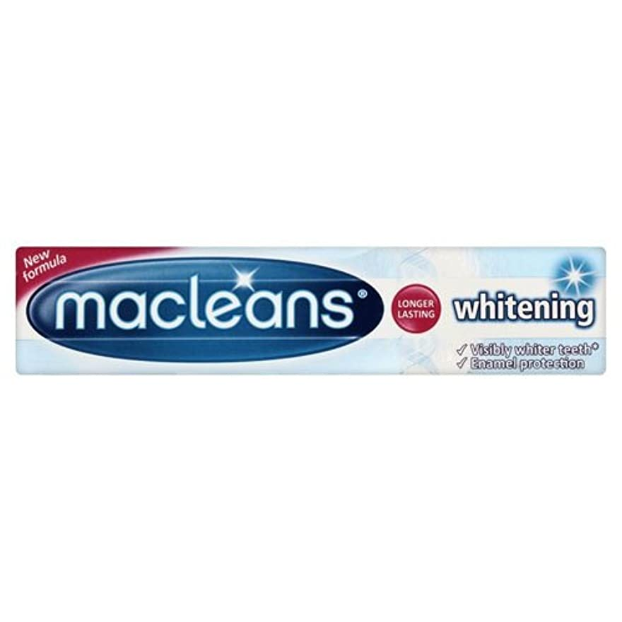 バブル緩やかな電極Macleans Whitening Toothpaste Tube 100ml by Macleans