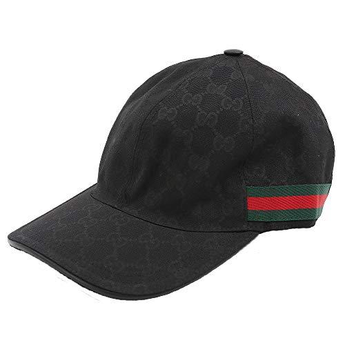 a3bcc24edeb3 [グッチ] GUCCI レディース メンズ キャップ ハット 帽子 GGキャンバス 200035 KQWBG 1060 BLACK ブラック