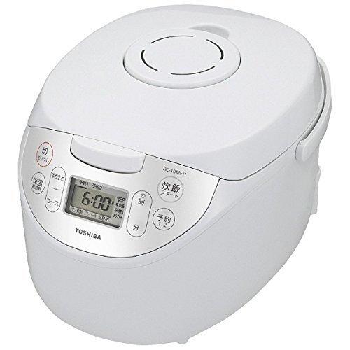 東芝 マイコンジャー炊飯器(5.5合炊き) ホワイトTOSHIBA マイコン保温釜 RC-10MFH...