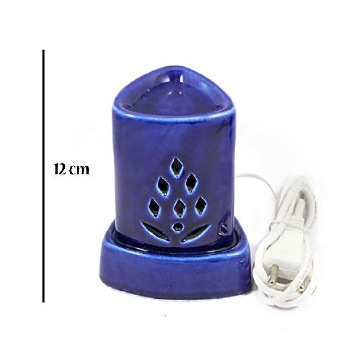 怖がって死ぬ鉛拡声器インドホームインテリア定期的な使用法汚染フリーハンドメイドセラミック粘土電気アロマオイルバーナー&ティーライトランプ/良質ホワイトカラー電気アロマオイルバーナーまたはアロマオイルディフューザー数量1