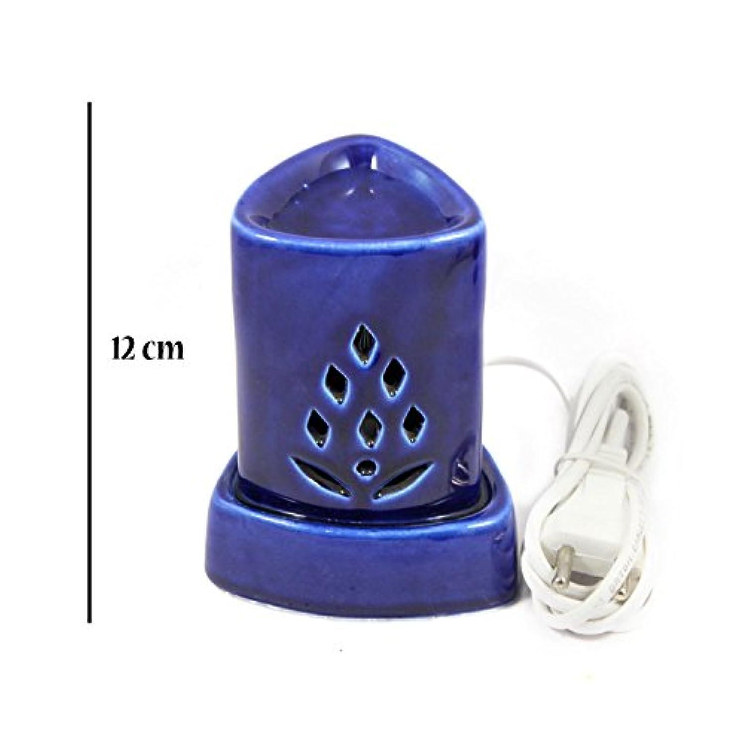 帳面恐れ精通したインドホームインテリア定期的な使用法汚染フリーハンドメイドセラミック粘土電気アロマオイルバーナー&ティーライトランプ/良質ホワイトカラー電気アロマオイルバーナーまたはアロマオイルディフューザー数量1
