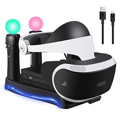 LiDiwee PSVR スタンド VR多機能スタンド PS Moveコントローラ*2 充電 VRコ...