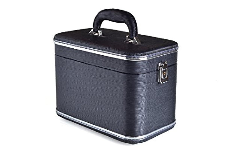 軽蔑認識腹部コスメボックス 化粧収納ボックス トレンケース 化粧雑貨 ポーチ (Z44/エピブラック)