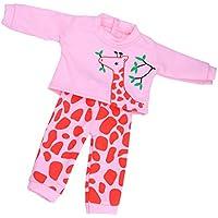 Lovoski 人形 かわいい 長袖トップ パンツ セット 18インチ アメリカンガールドール適用 服装