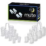 mute いびき防止グッズ ノーズピン 高フィット 8個セット (XS S M L各サイズ×2種の柔軟性)
