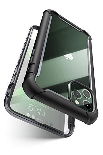 i-BLASON iPhone 11 Pro ケース 5.8インチ 液晶保護フィルム付き 米国軍事規格取得 360°保護 耐衝撃 防塵 クリア Qi充電対応 Aresシリーズ