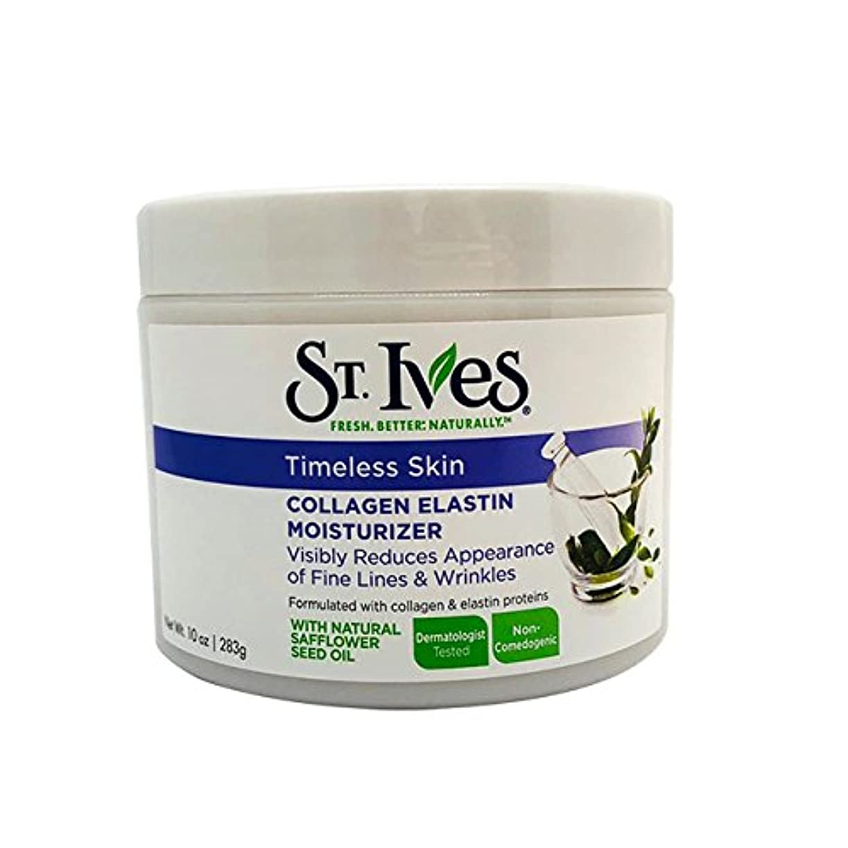 メナジェリー天窓散髪St. Ives Facial Moisturizer, Timeless Skin Collagen Elastin, 10oz by St. Ives [並行輸入品]