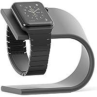 CoolLa Apple Watch充電スタンド 充電クレードル デスクトップスタンド watch充電ホルダー 充電ケース watchベルト 充電ドック 卓上 時計充電スタンド アルミ 105×50×90mm