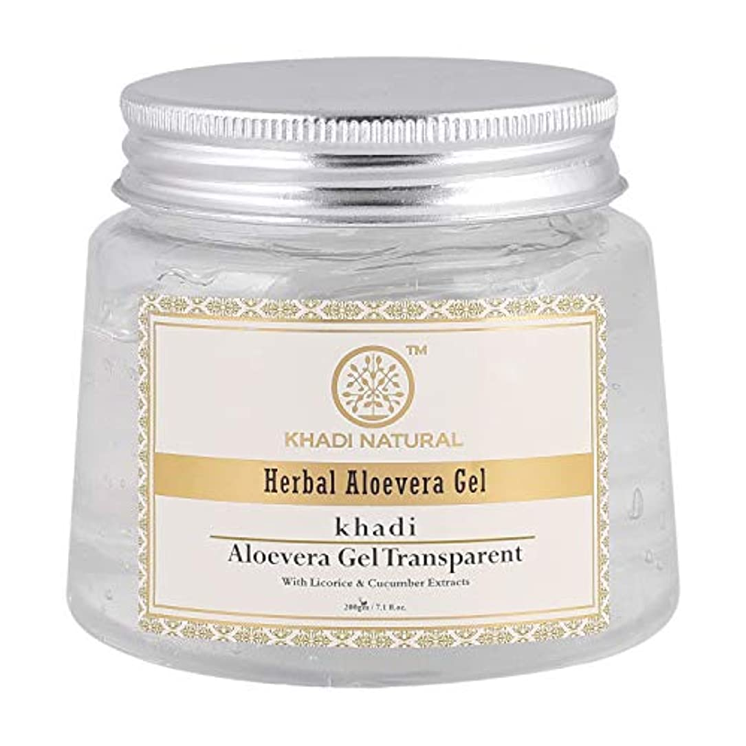 重要な消毒する兄Khadi Natural Herbal Aloevera Gel With Liqorice & Cucumber Extracts 200g