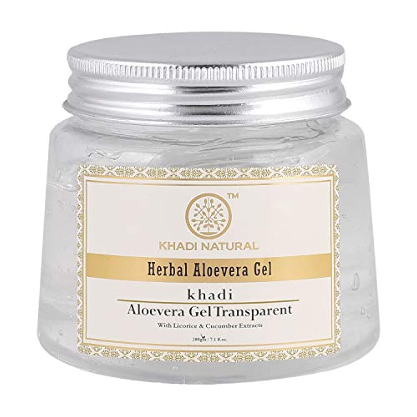 Khadi Natural Herbal Aloevera Gel With Liqorice & Cucumber Extracts 200g