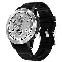 スマートウォッチ防水心拍数モニタースポーツ時計ステップカウンタースリープモニター定住リマインダーフィットネストラッカー時計アンドロイド & IOS の,Silver