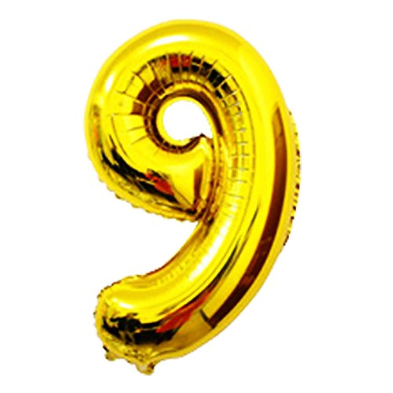 OUYOU バルーン アルミ風船 数字バルーン 飾り付け 誕生日 ウェディング パーティー 16インチ