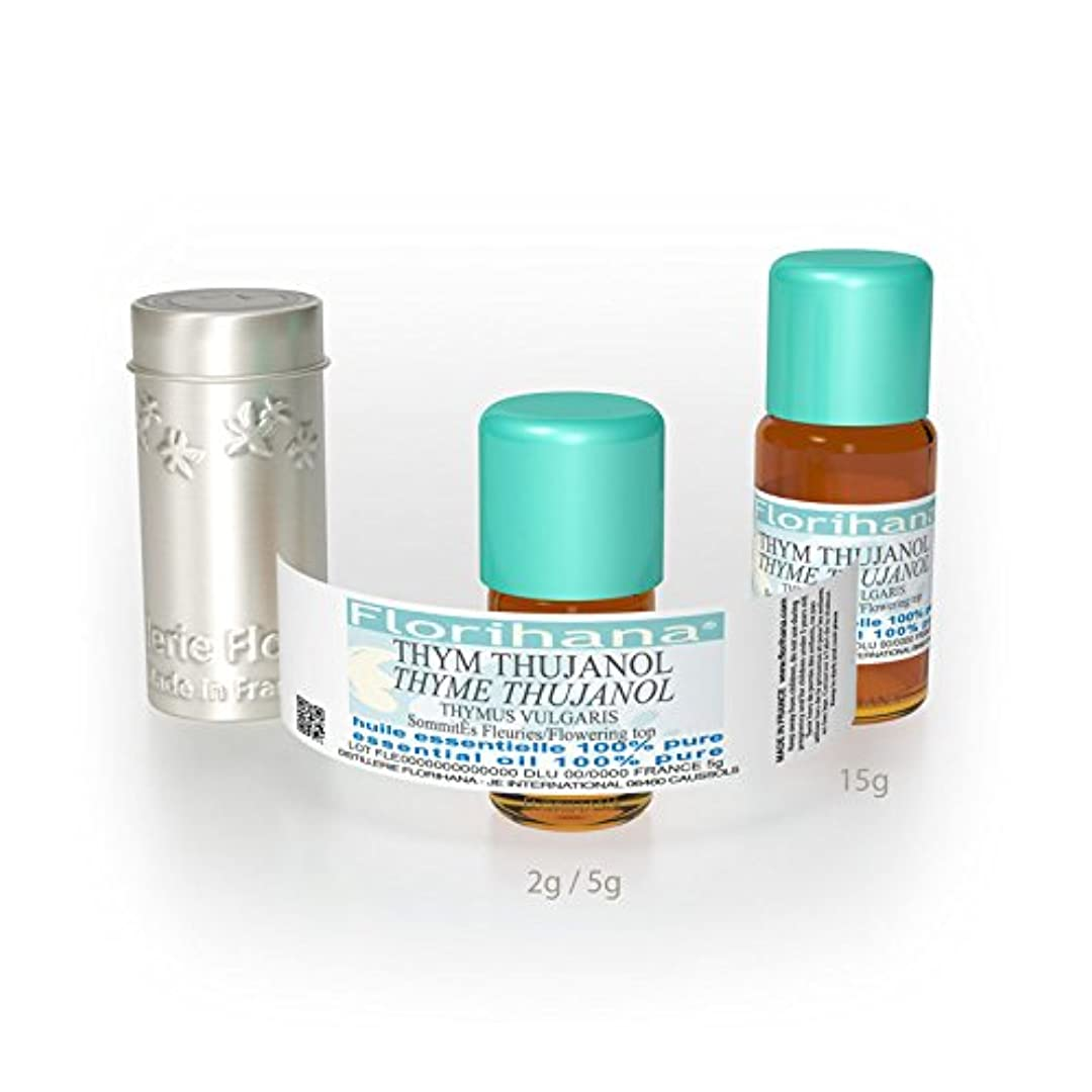出会いおびえた予防接種するFlorihana エッセンシャルオイル タイムツヤノール 5g(5.5ml)