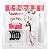 Cololline アイラッシュカーラー ビューラー 睫毛 高級感/高品質/ステンレス製、替えゴム5個付き、毛抜き (ピンクボックス, ローズゴールド)
