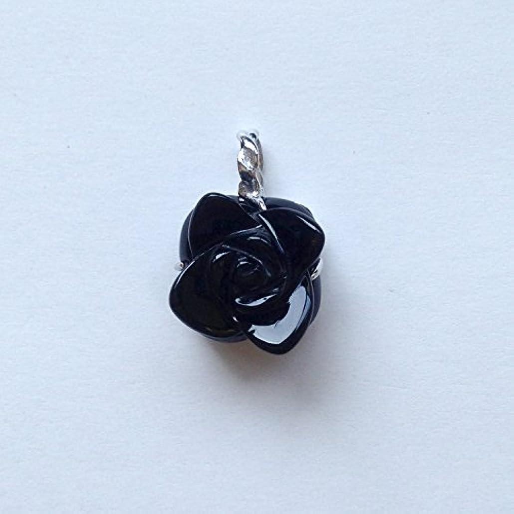 キャベツ規制カジュアル香る宝石SVオニキスペンダント通常¥26,800の所 (Ag925)