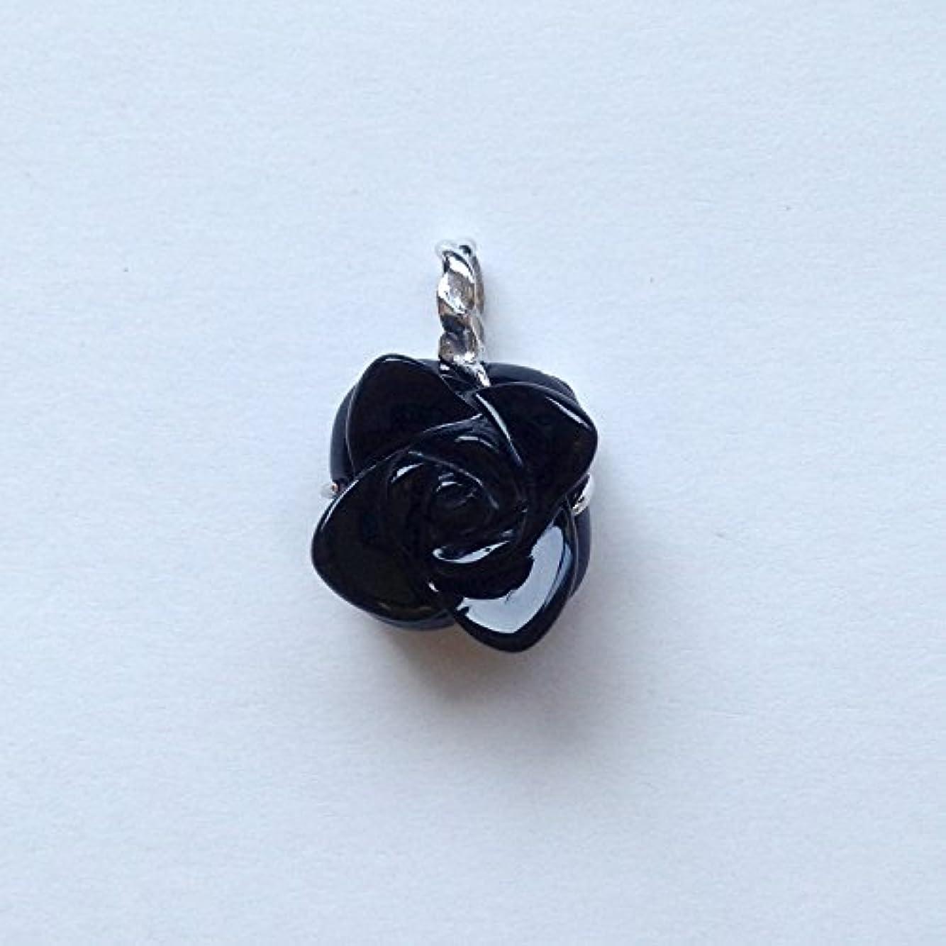 入力植生脊椎香る宝石SVオニキスペンダント通常¥26,800の所 (Ag925)