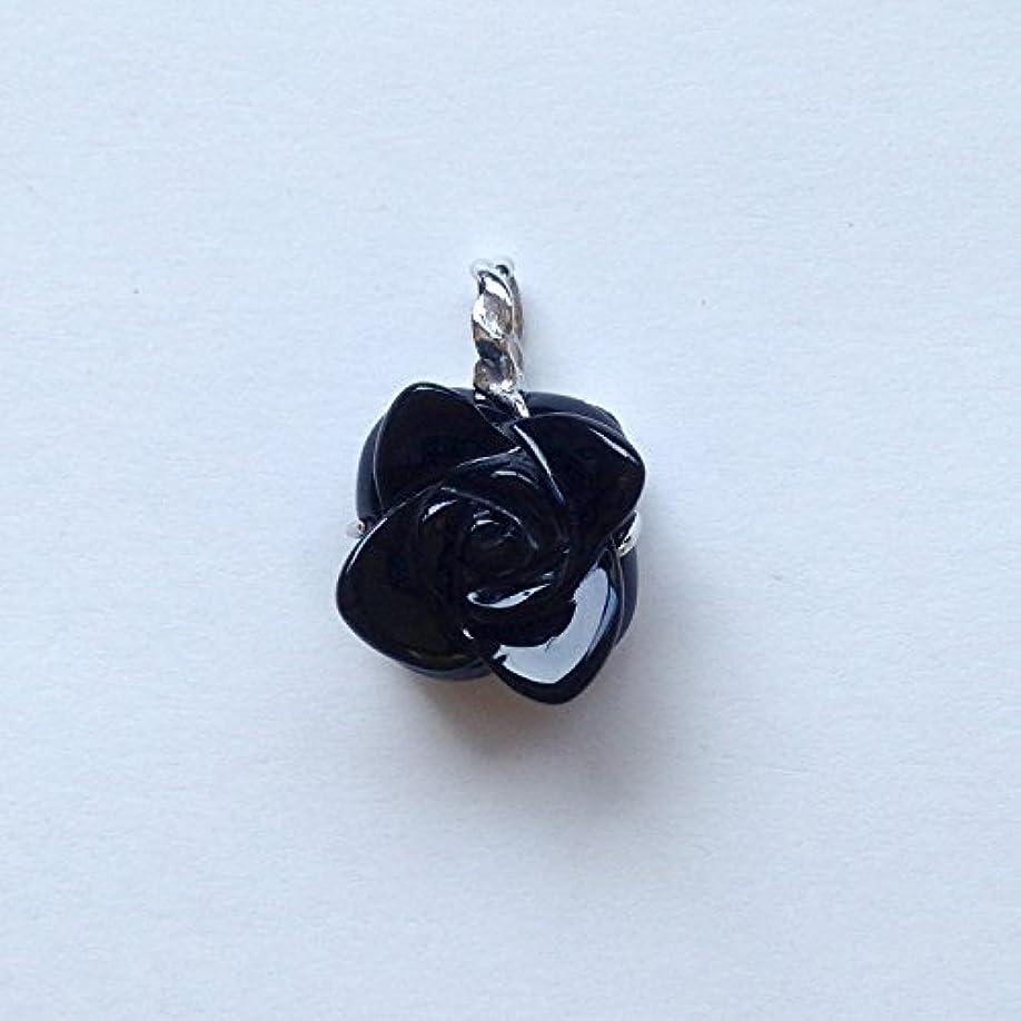 植物学殺人者スナップ香る宝石SVオニキスペンダント通常¥26,800の所 (Ag925)