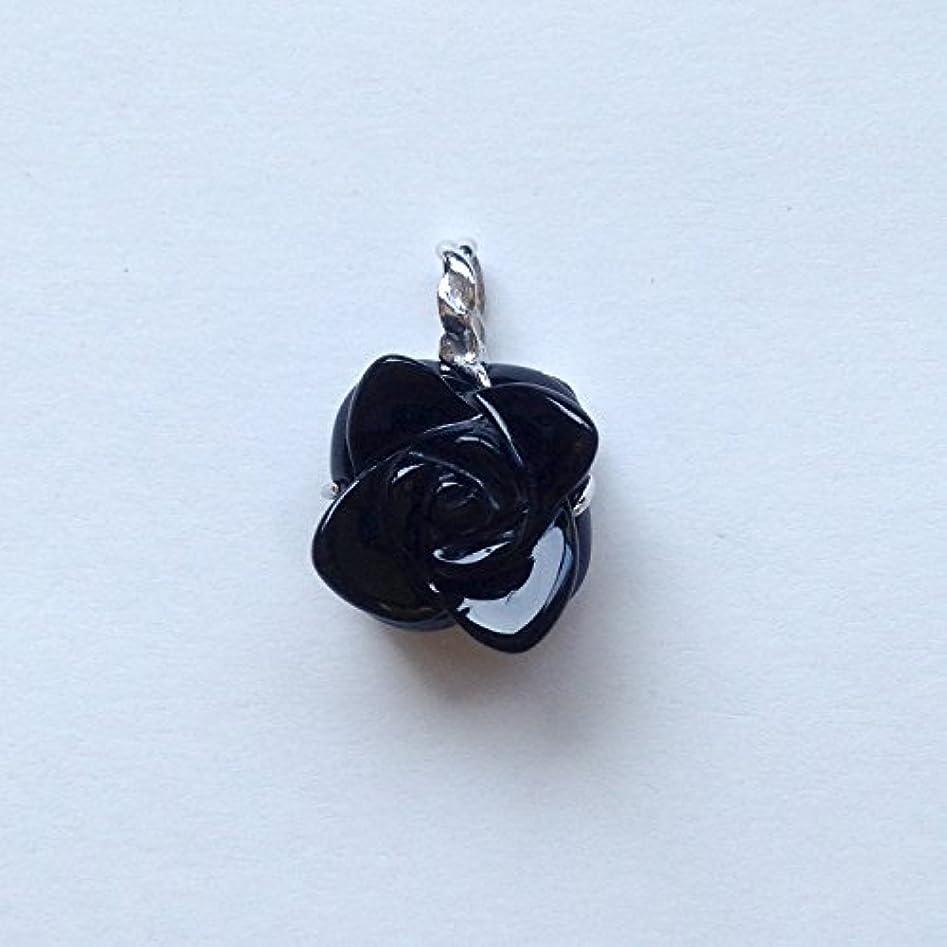 フリルアラバマうぬぼれた香る宝石SVオニキスペンダント通常¥26,800の所 (Ag925)