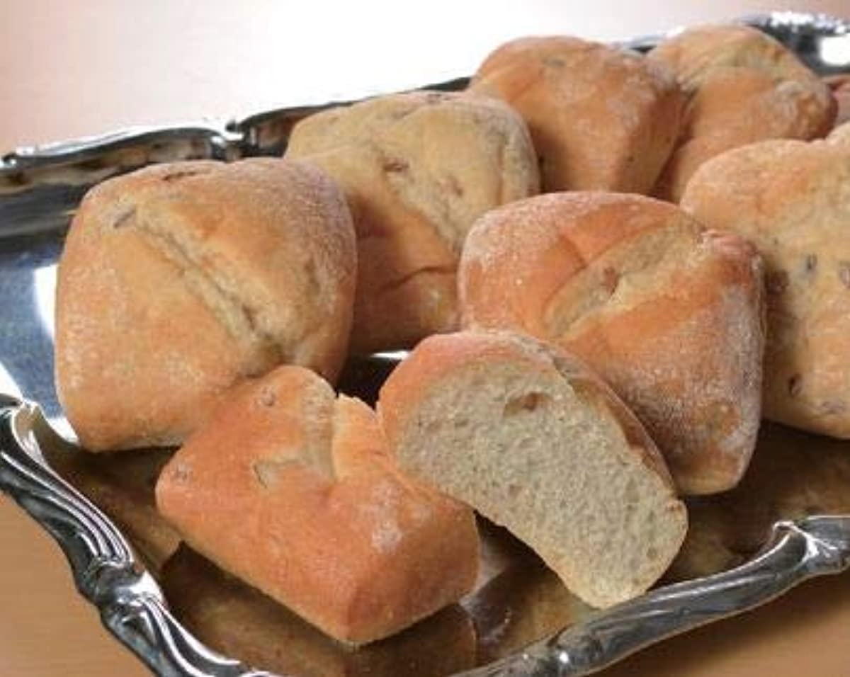 転用隙間対話ライ麦パン(全粒粉入り)10個(1個約7×8×4cm)【冷凍パン】【朝食】(mk)(147030)